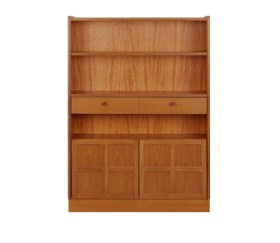 Classic Teak Medium Bookcase with Doors