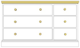 Cornish 6 Drawer Multichest