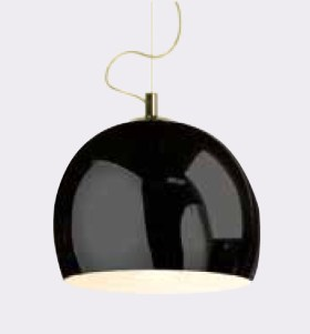 click to view danalight Lounge Pendant Black Chrome Shade