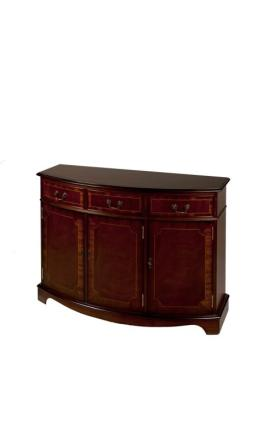 Reproduction 3 Door Bow Sideboard