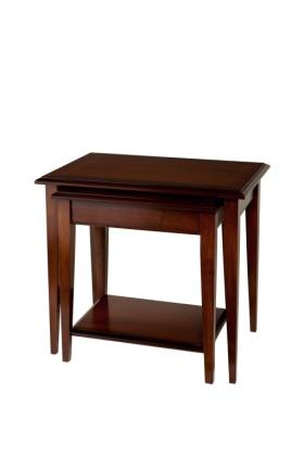 Reproduction Sheraton 2 Tier Solid Top Nest of Tables