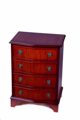 Reproduction 4 Drawer Serpentine Chest