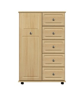 1 Door/5 Drawer Linen Cupboard