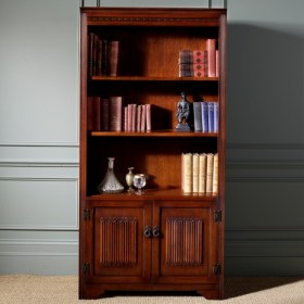 Bookcase Wood Doors Below