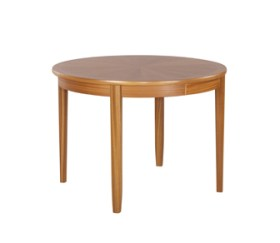 Shades Teak Circular Dining Table on Legs with Sunburst Top