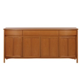 Shades Teak Shaped 4 Door Sideboard