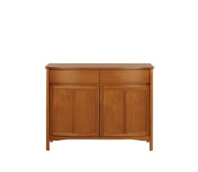 Shades Teak Shaped 2 Door Sideboard
