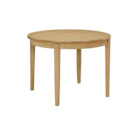 Shades Oak Circular Dining Table on Legs
