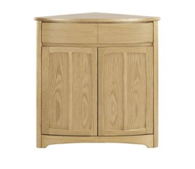 Shades Oak Shaped Corner Base Unit
