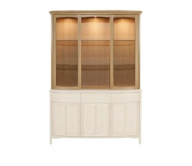 Shades Oak Shaped Glass Door Display Top Unit