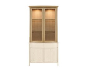 Shades Oak Shaped Glass 2 Door Display Top Unit