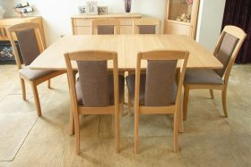 click to view the andrena albury boat shaped extending dining table