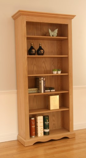 click to view pelham wide open bookcase