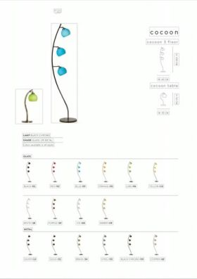 click to view danalight cocoon 3 floor lamp