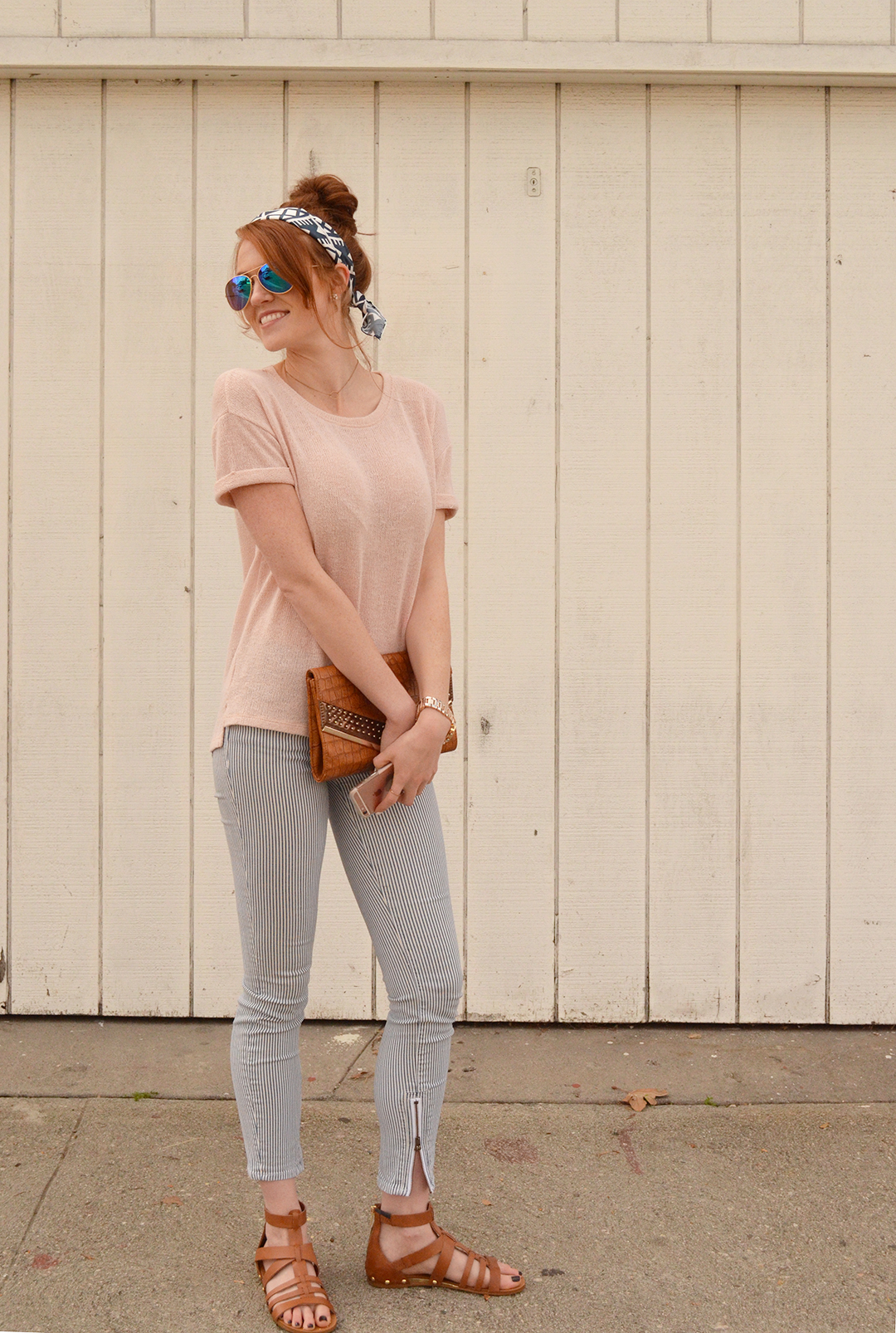 Easter Casual with Rose Quartz and Serenity blue | www.whitneyhoy.com