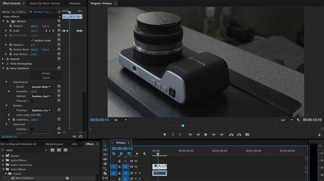 Editing with Premiere