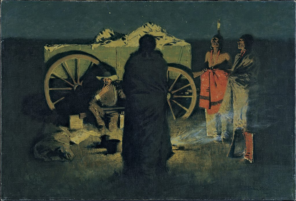 Negative space can be used for narrative effect - grouping the closest figure's silhouette with the negative space of the night adds drama to the painting. Image Courtesy of Wikimedia Commons*