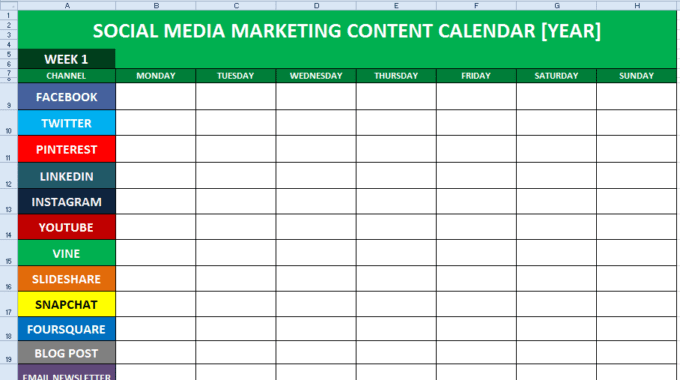 How To Create A Perfect Social Media Content Calendar For