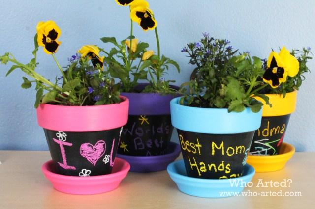 Chalkboard Flower Pots 07