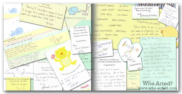 Baby Book Ideas Scan Cards