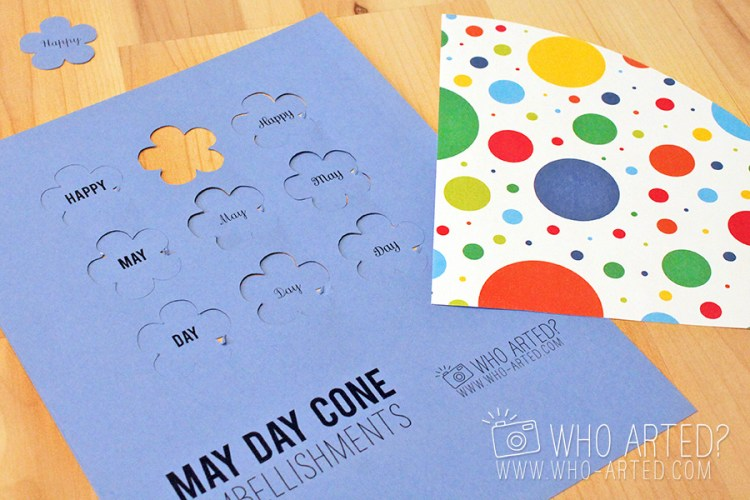May Day Cone Template Who Arted 03
