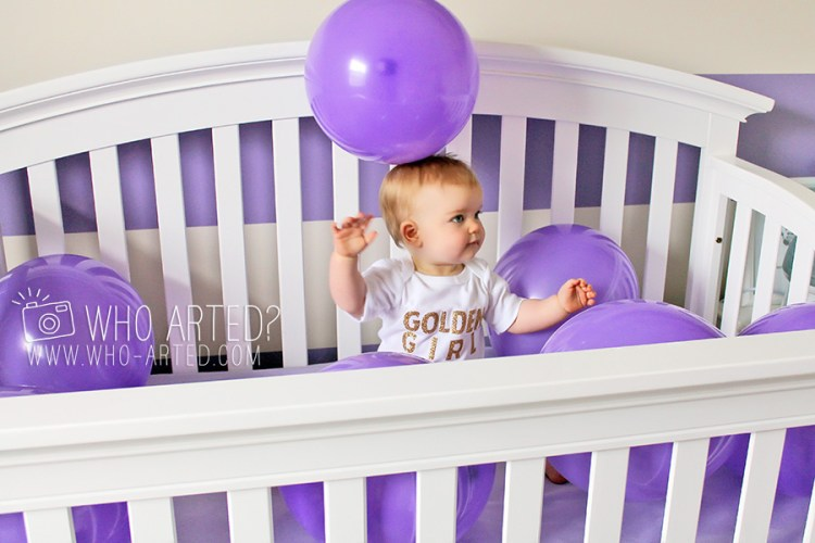 First Birthday Balloon Crib Party Who Arted 01