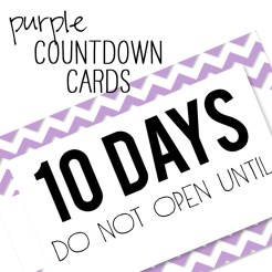 Birthday Countdown Cards Mini Lilac Who Arted Template Thumbnail
