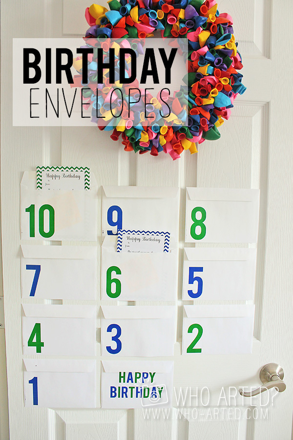 Birthday Countdown Envelopes Who Arted 00