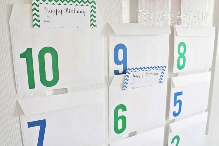 Birthday Countdown Envelopes Who Arted 04