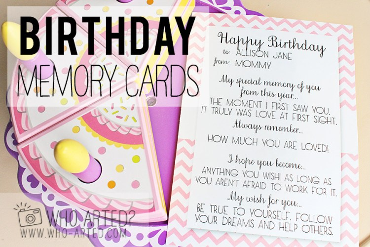 Birthday Memory Cards Template Who Arted 00