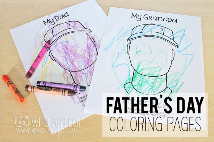 Father's Day Coloring Page Who Arted 00