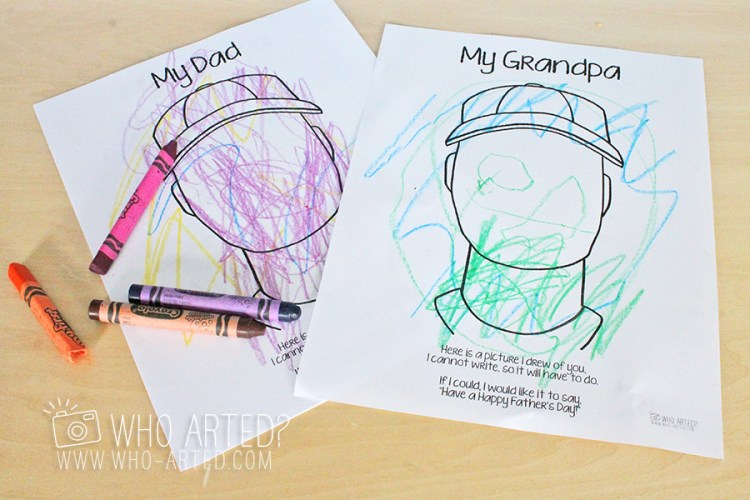 Father's Day Coloring Page Who Arted 05