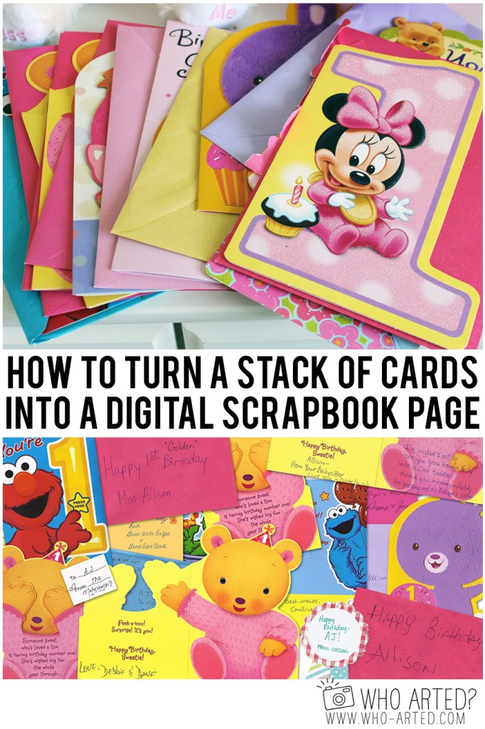 How to Scan Cards into Scrapbook Who Arted 00