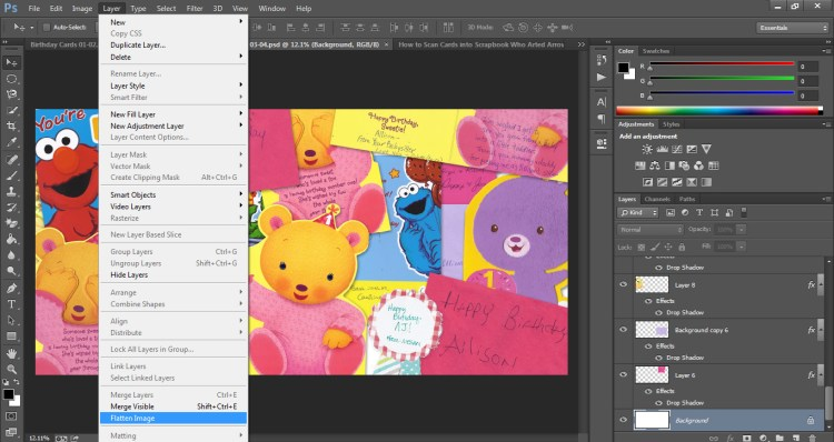 How to Scan Cards into Scrapbook Who Arted 22