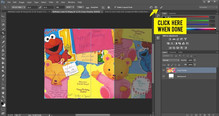 How to Scan Cards into Scrapbook Who Arted 25