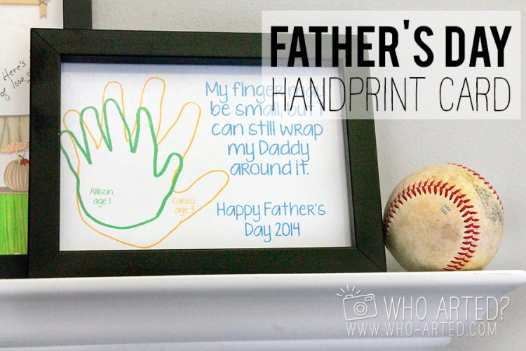 Father's Day Handprint Card Who Arted 00