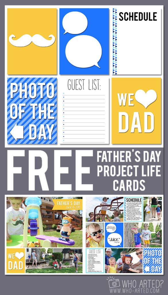 Project Life Father's Day Who Arted Pinterest2