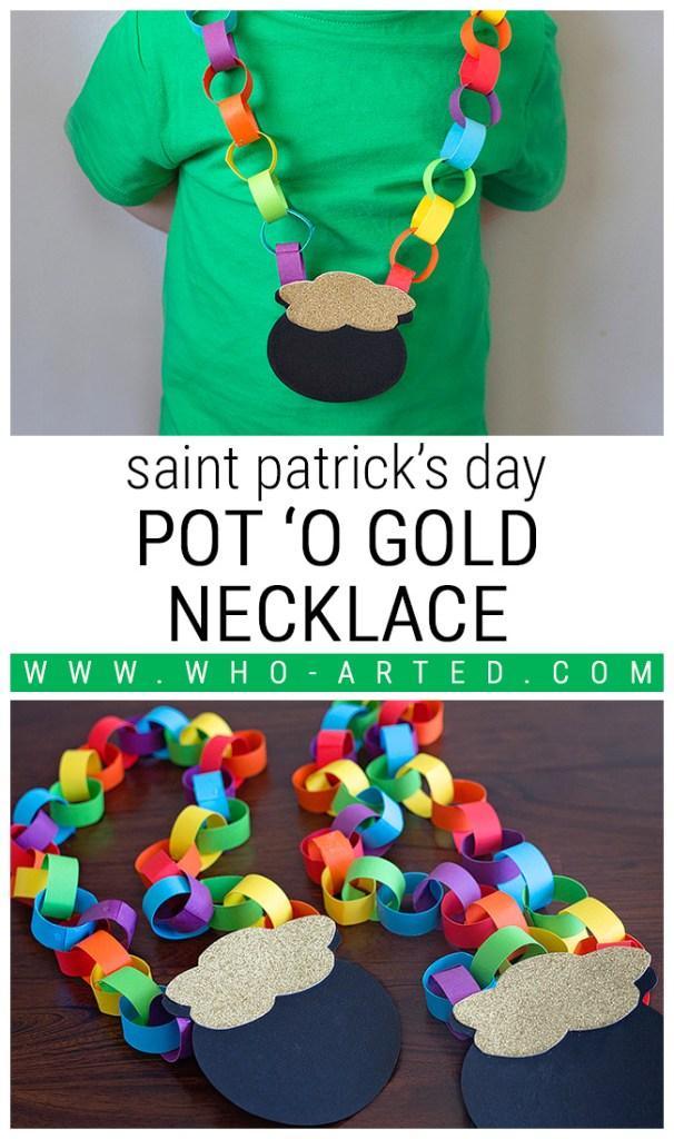Saint Patrick's Day Pot O' Gold Necklace