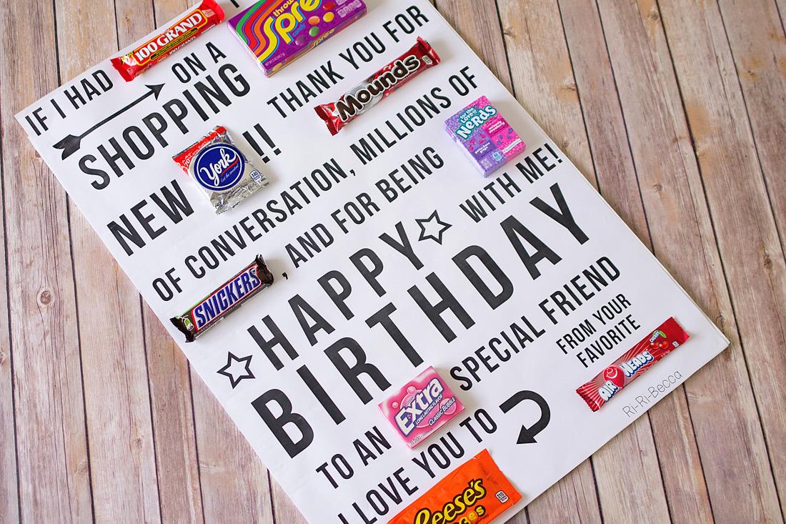 Candy Gram Birthday Card