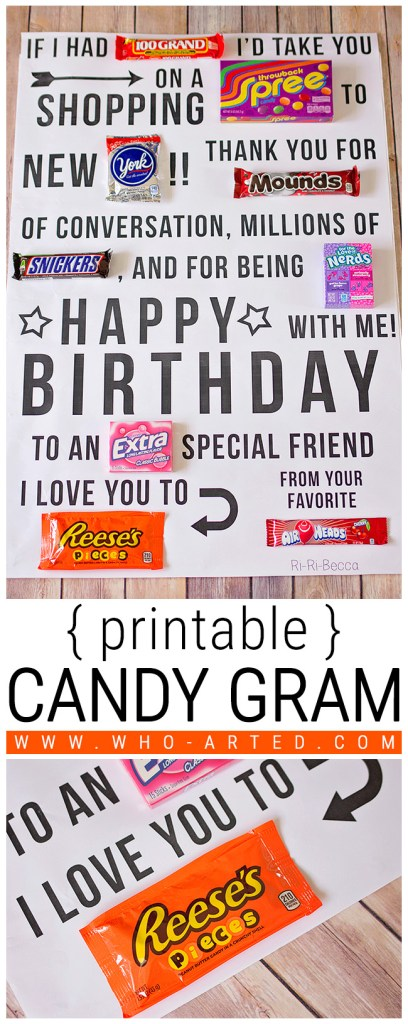 Candy Gram Birthday Card 1 00 - Pinterest 01