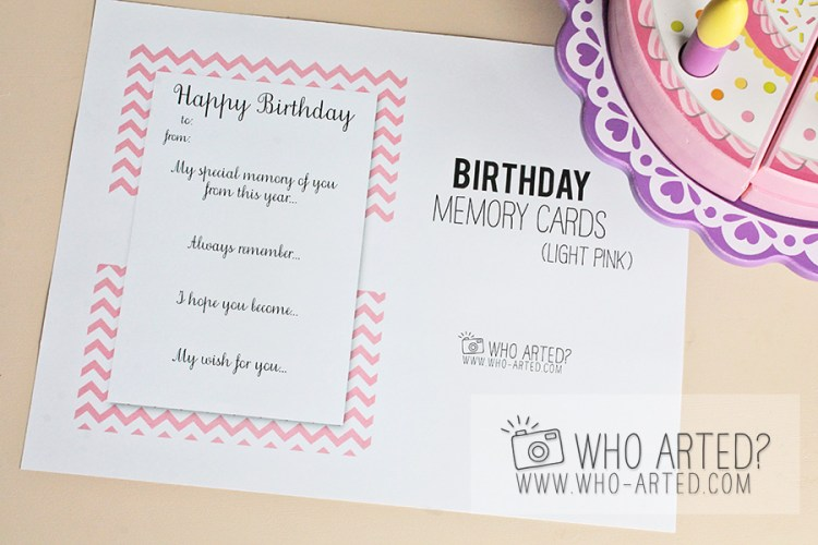Birthday Memory Cards Template Who Arted 04