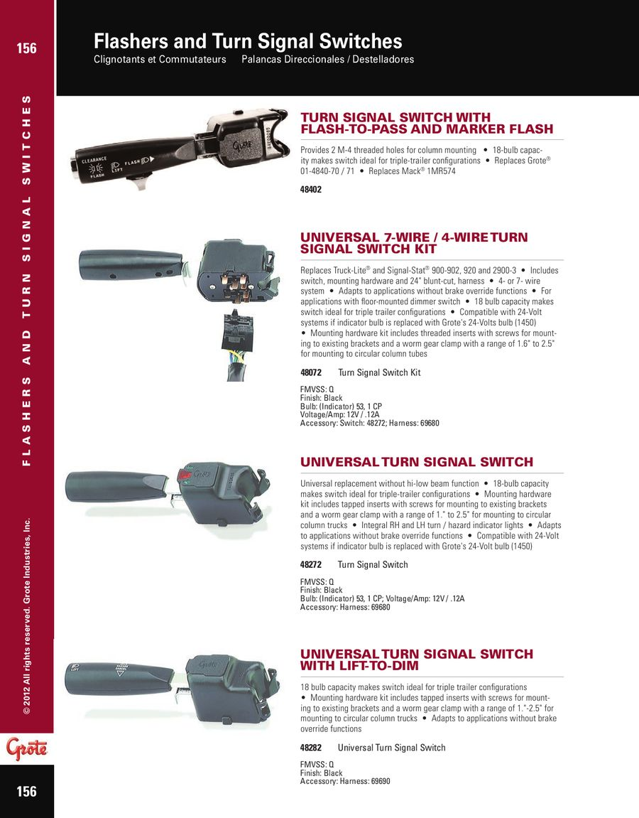 Awesome grote turn signal wiring diagram contemporary wiring grote 48072 wiring diagram data set cheapraybanclubmaster Image collections