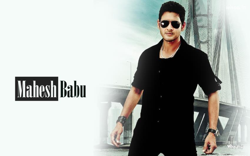 Mahesh Babu In Black Clothes And Black Glasses