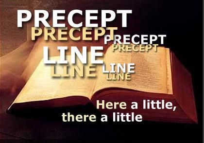 Image result for precept upon precept, line upon line