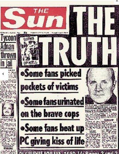 Rupert Murdoch's Sun's lies on Hillsborough