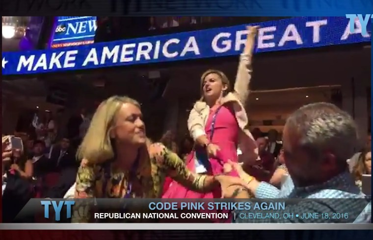 Code Pink Fights Back Against RNC Hate 1