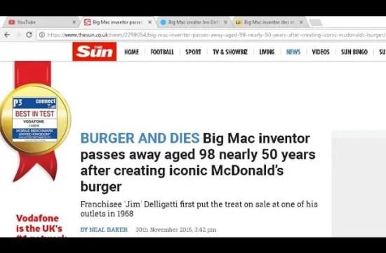 BREAKING NEWS!! Inventor of Big Mac DIES!! 9
