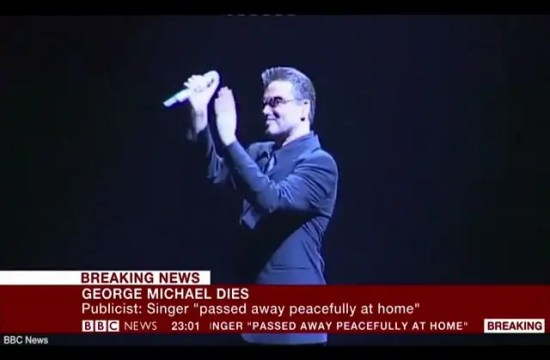 BBC News announces death of pop superstar George Michael 48
