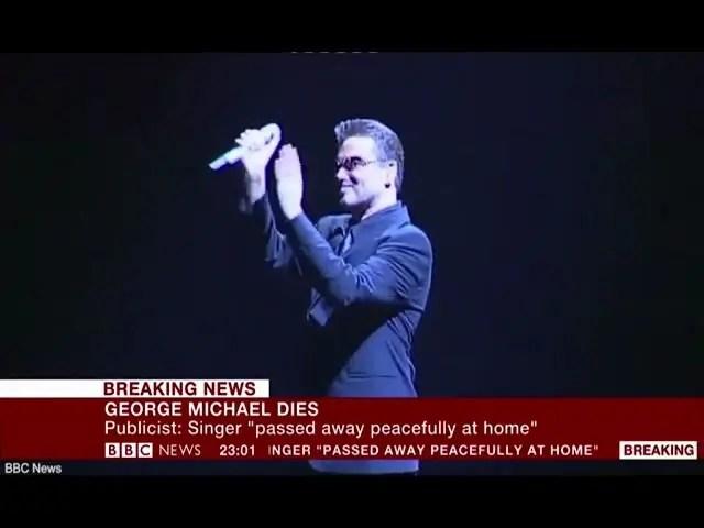 BBC News announces death of pop superstar George Michael 1