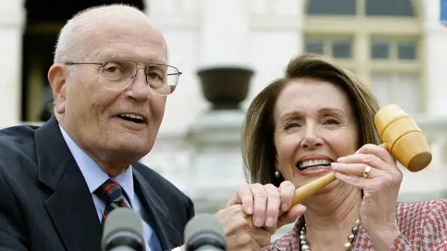 Rep Dingell and House Speaker Nancy Pelosi.